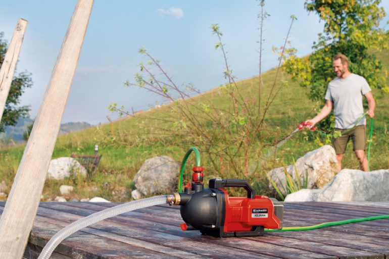 Einhell Cordless garden pump 4180400 Aquinna Application