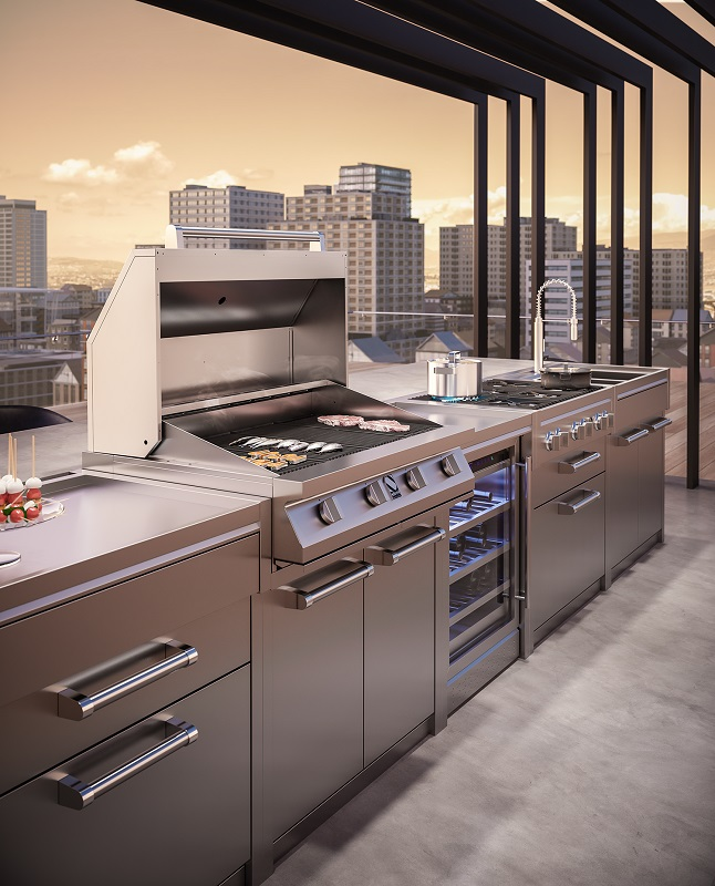 steel outdoorkitchen-attico-bbq