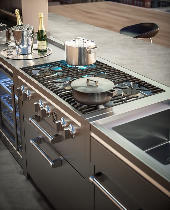 steel outdoorkitchen-attico-herd