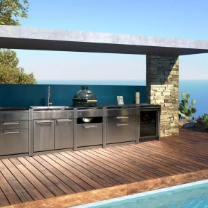 Steel Outdoorkitchen mit Big Green Egg