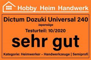 Testlogo Dictum Dozuki Universal 240 Japansäge