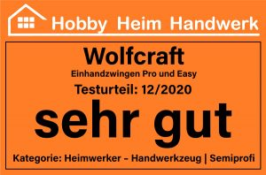 Wolfcraft Einhandzwingen Pro und Easy